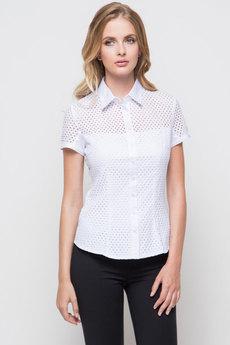 Женская белая блузка с коротким рукавом Marimay