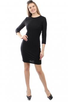 Черное трикотажное платье Bast